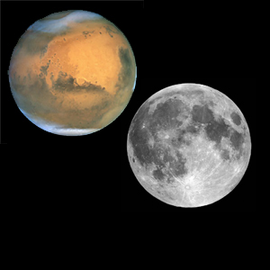 Marte tan grande como la luna, 27 de Agosto de 2009